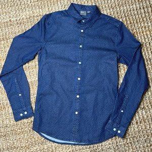 ASOS Men's NWT Polka Dot Denim Button Down shirt S